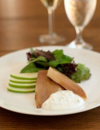 Smoked Trout with Apple-Horseradish Cream