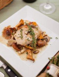 Sautéed Pork Cutlets with Wild Mushroom Ragoût