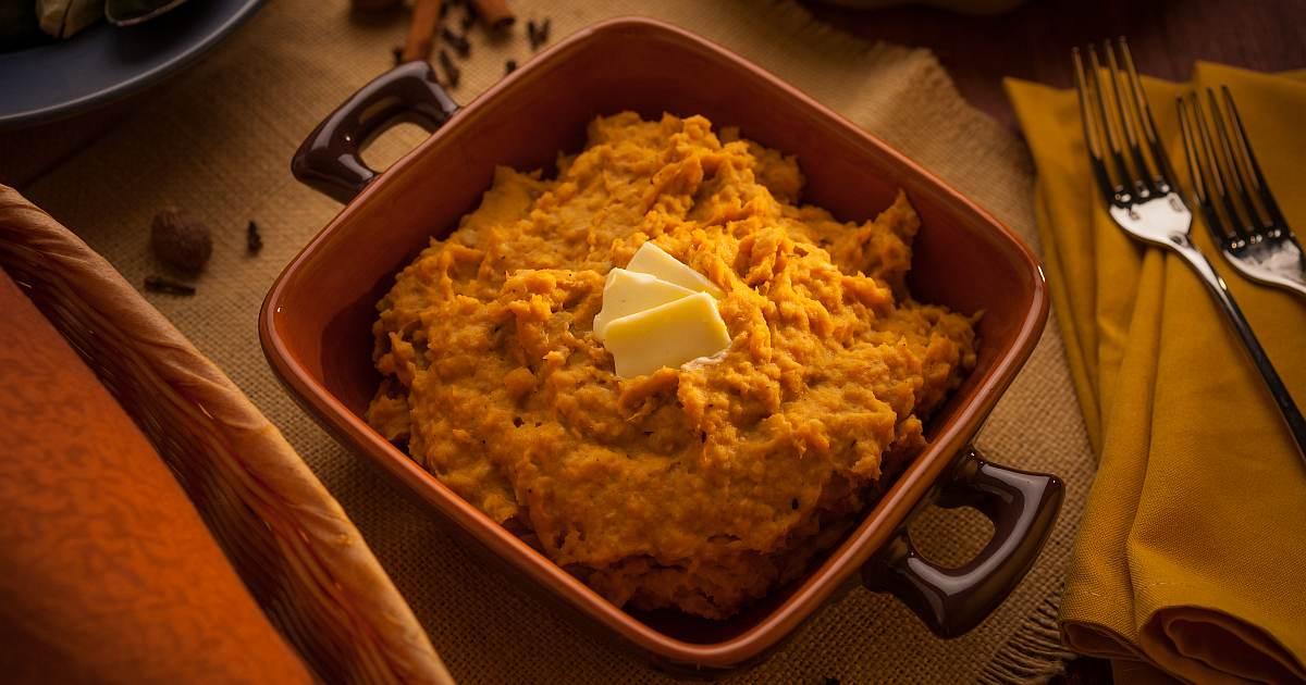 gingerbread sweet potato plantain mash