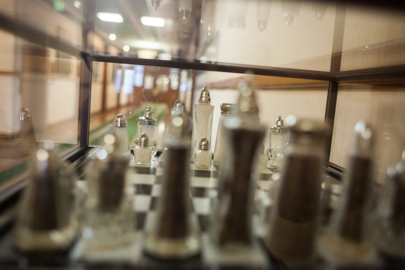 Scary places on the Hyde Park Campus. Salt and pepper chess set on Roth Hall's 3rd floor.