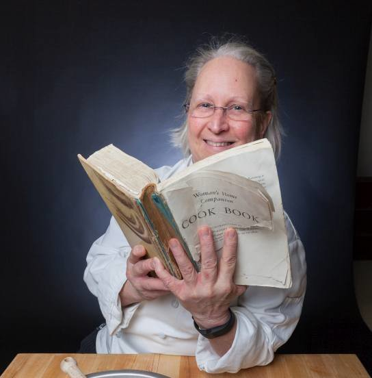 Chef Katherine Polenz and her family's copy of Women's Home Companion Cook Book.