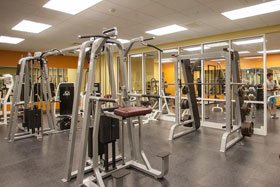 The expanded weight and group exercise rooms offer more space, more machines, and more options to achieve a total body workout.