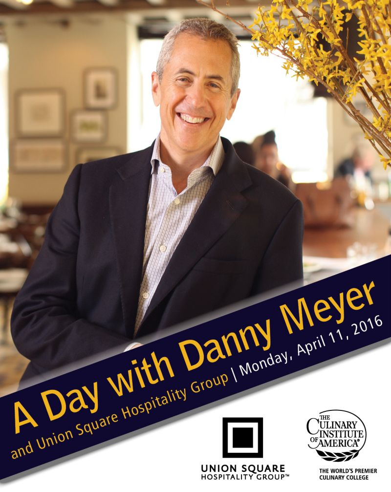 Danny Meyer, CEO of Union Square Hospitality Group, offers advice to CIA students on April 11, 2016 at The Culinary Institute of America.