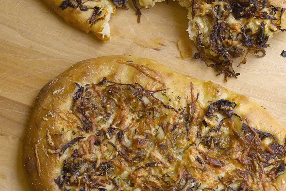 Focaccia recipe by The Culinary Institute of America.