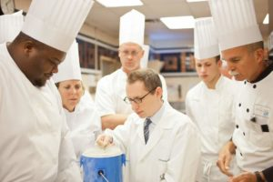 Students and professionals taking part in the CIA Culinary Science CE course in Skills 1