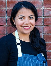 Lisa Vega '03, CIA baking and pastry alumna and pastry chef at Dandelion Chocolate