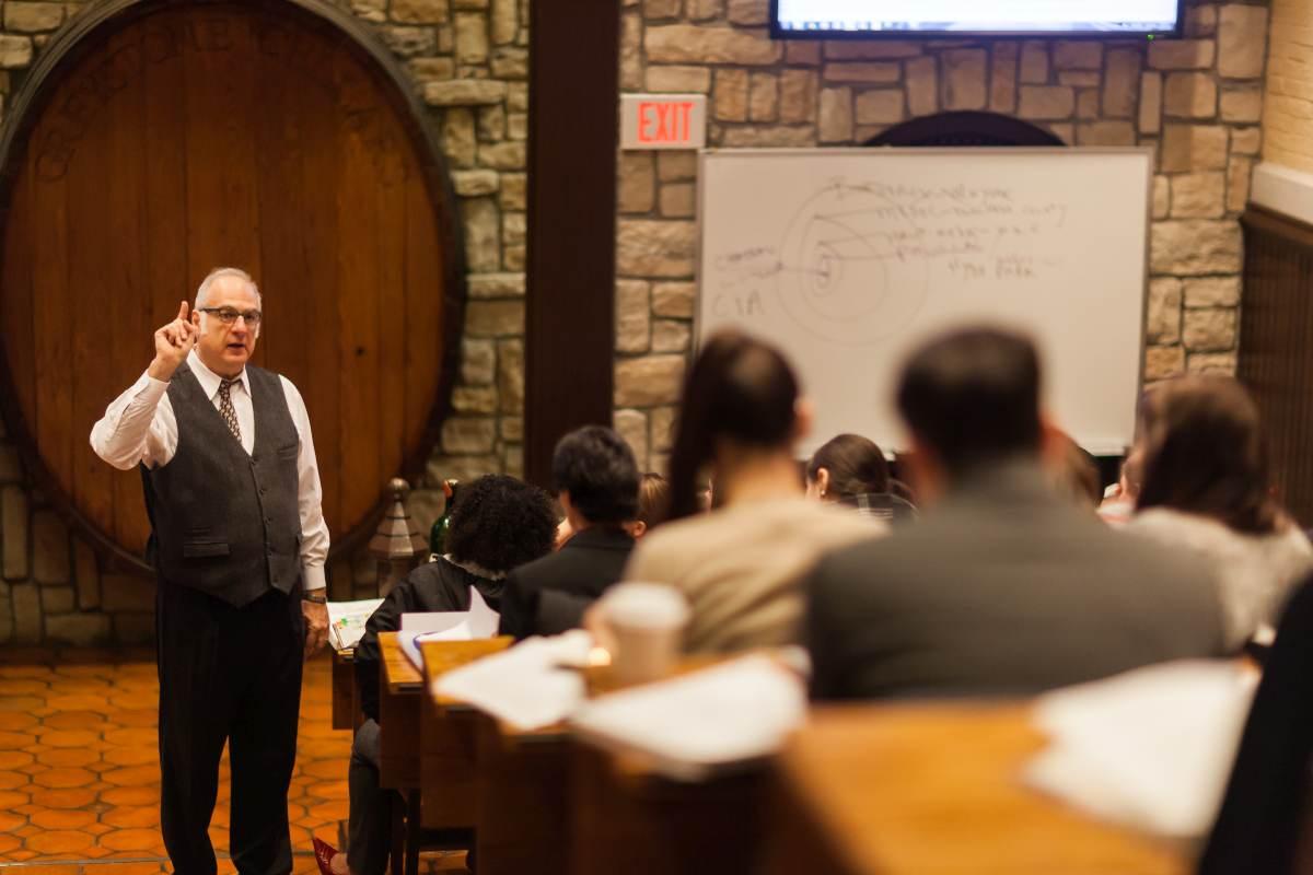 learning commons Wine studies professor MIchael Weiss.