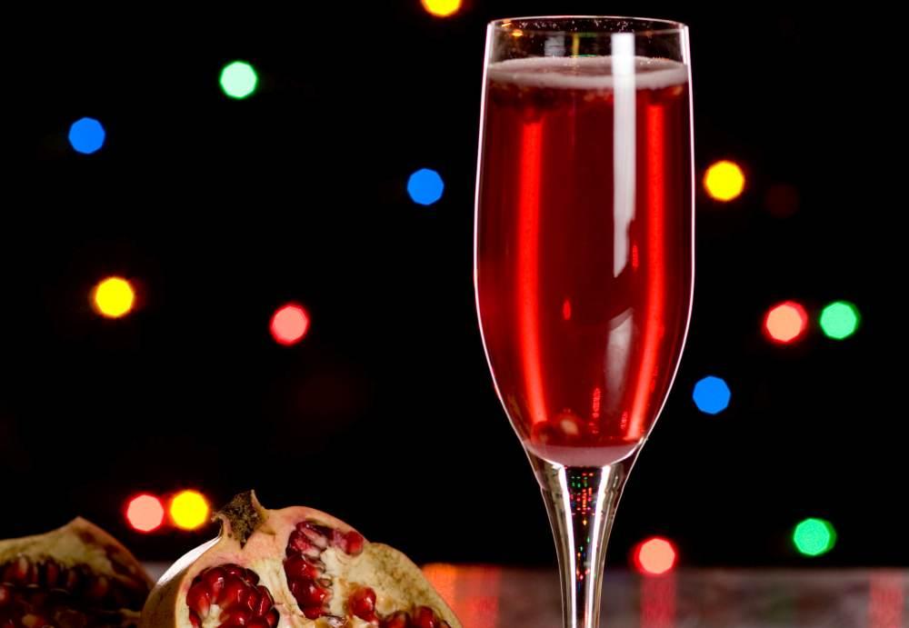Holiday Cocktails and Mocktails Crimson
