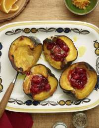 Baked Acorn Squash with Cranberry-Orange Compote