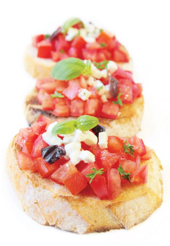 3 Easy Recipes for Your Oscar Night Party OG crostini
