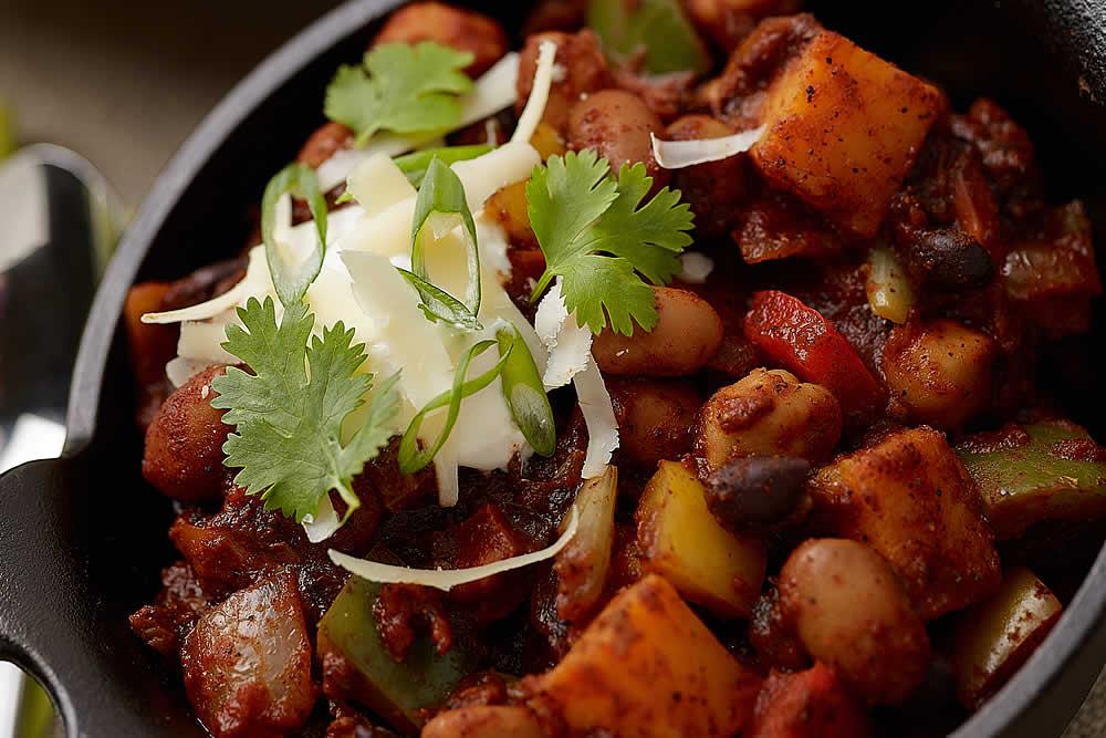 CIA's vegetarian chili with winter squash makes a great football-season dish!