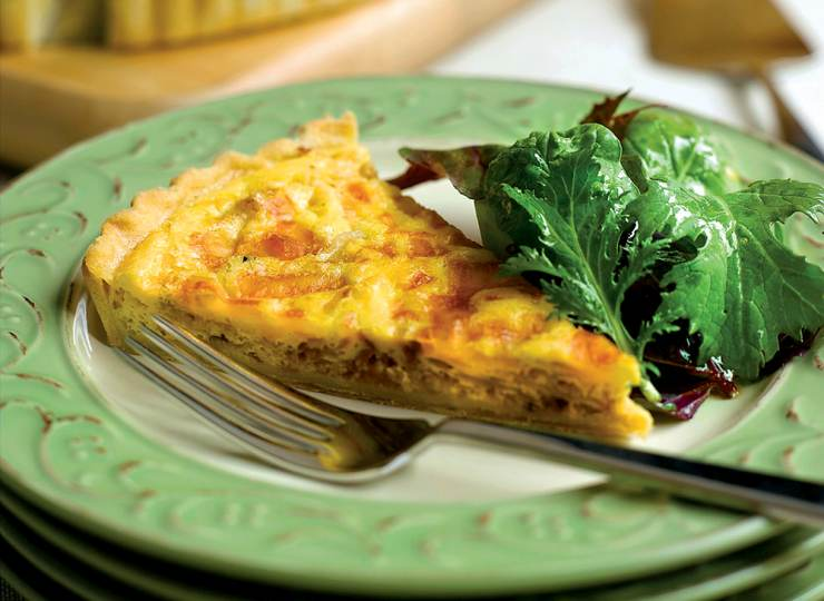 pi day Caramelized Onion Quiche