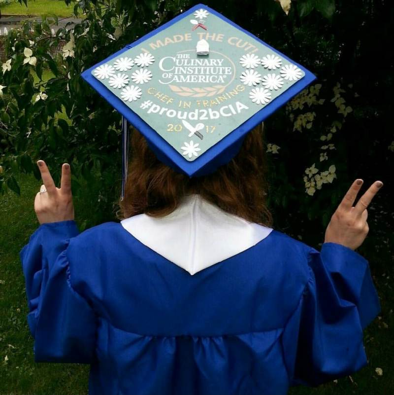 graduation cap toppers contest cia culinary school blog