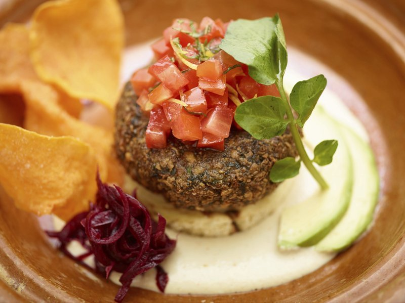 falafel challah burger