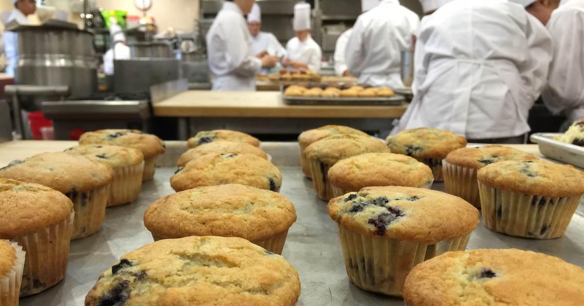 baking through the cia -muffins