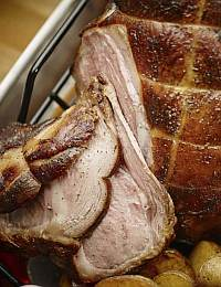 Step aside, ribs. Leg of lamb can also be wood smoked