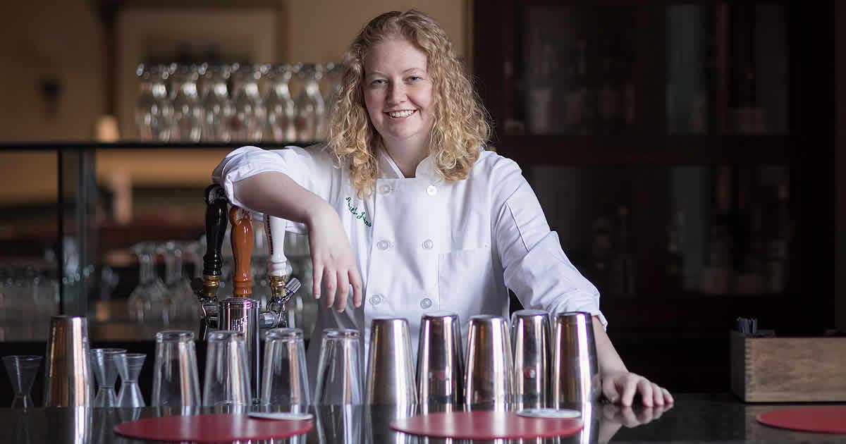 Photo of April Johnson, culinary arts student at The CIA.
