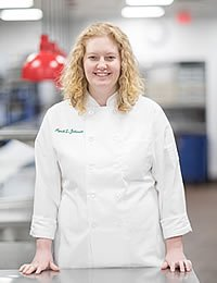 Headshot photo of April Johnson, CIA culinary arts student.