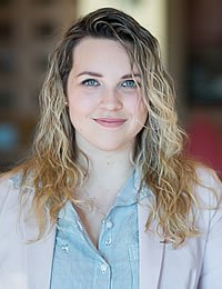 Photo - head shot of Payton Spear, CIA baking and pastry student.