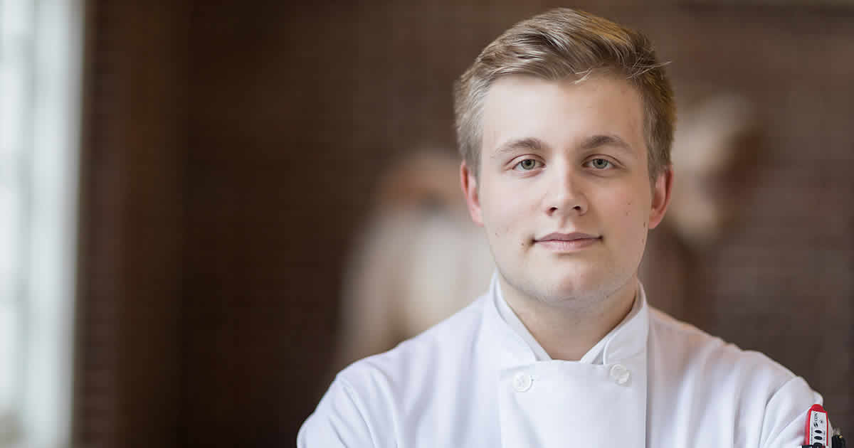 photo of Taran Schiffer, CIA culinary arts student from Berlin, Germany