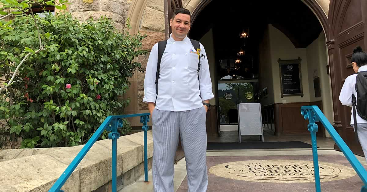 Photo of Brien O'Brein, CIA culinary arts student in California
