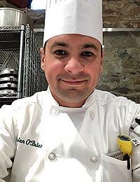 Photo of CIA student, Brien O'Brien in chef whites