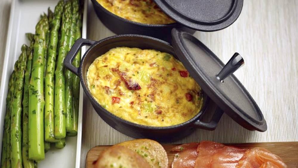 spring leek frittata recipe og image