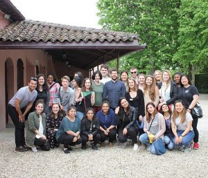 Photo of CIA students at a French winery