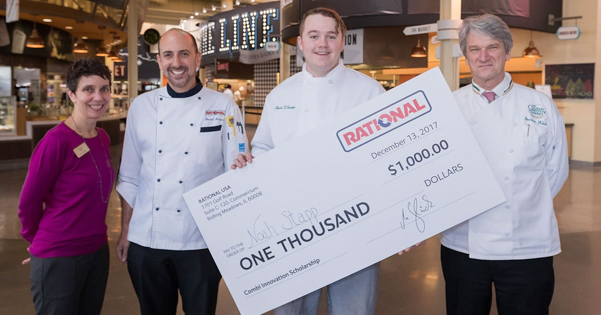 Photo of CIA culinary college school scholarship recipient