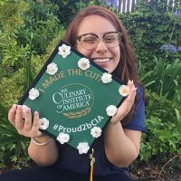 Photo image of Celeste's high school graduation cap topper