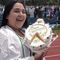 Photo image of Elizabeth Bonnot's high school graduation cap topper