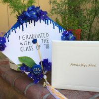 Photo image of Ellie's high school graduation cap topper