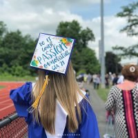 Photo image of Jenna's high school graduation cap topper