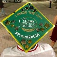 Photo image of Marco's high school graduation cap topper