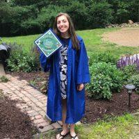 Photo image of Morgan's high school graduation cap topper