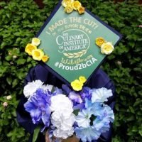 Photo image of Rebecca S's high school graduation cap topper