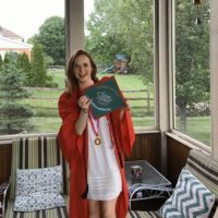 Photo image of Shala's high school graduation cap topper