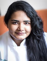 photo of Harshita Bhatia, a CIA culinary arts student