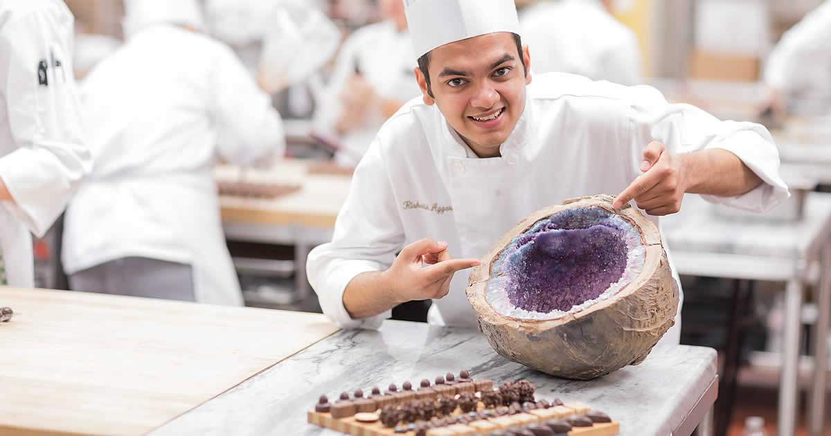 Photo of Rishabh Aggarwal, CIA baking and pastry arts student.