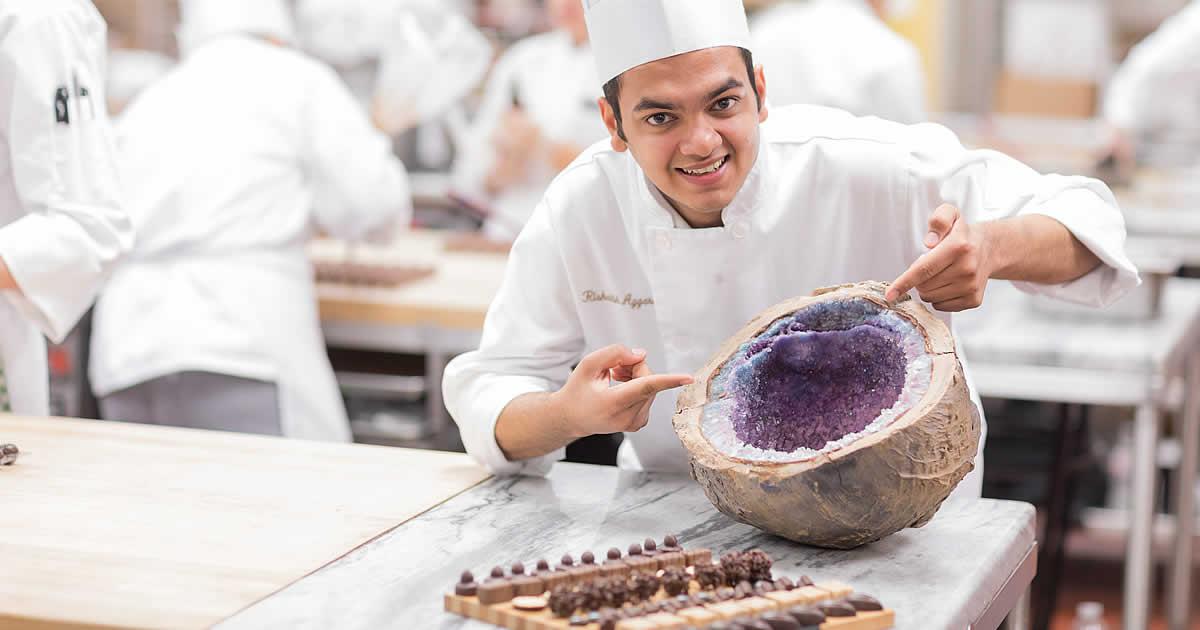 Photo of Rishabh Aggarwal, CIA baking and pastry arts student.