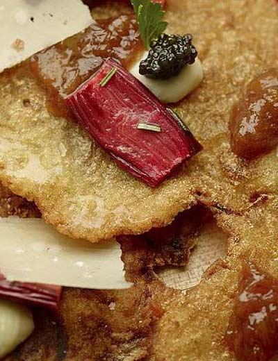 Parsnip and Potato Latkes with Rhubarb Jam Recipe
