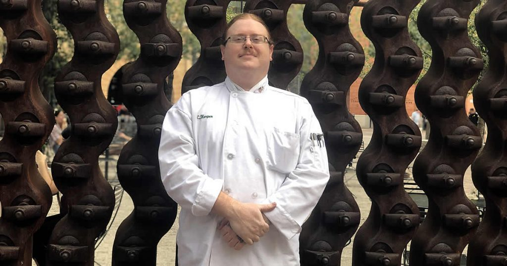 Photo of Christoper Harper, CIA culinary arts student
