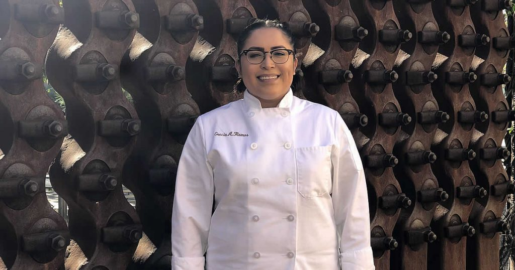 Photo of Grecia Ramos, a CIA baking and pastry arts student at the CIA in San Antonio.
