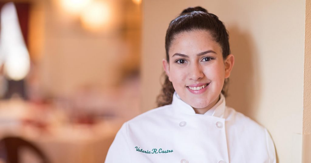 Photo of Valeria Castro, CIA student of culinary arts