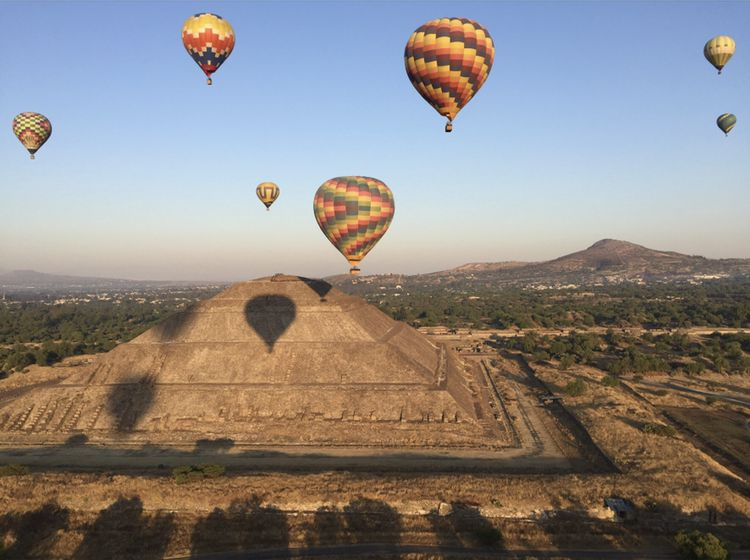CIA students in the Latin American Cuisine Concentration visit Teotihuacan in Mexico