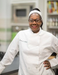Small photo of Kesha Harris, CIA culinary arts student at CIA's NY campus