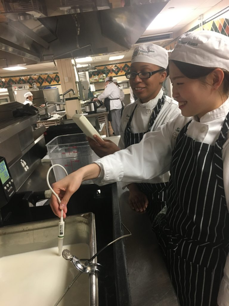 CIA students making cheese