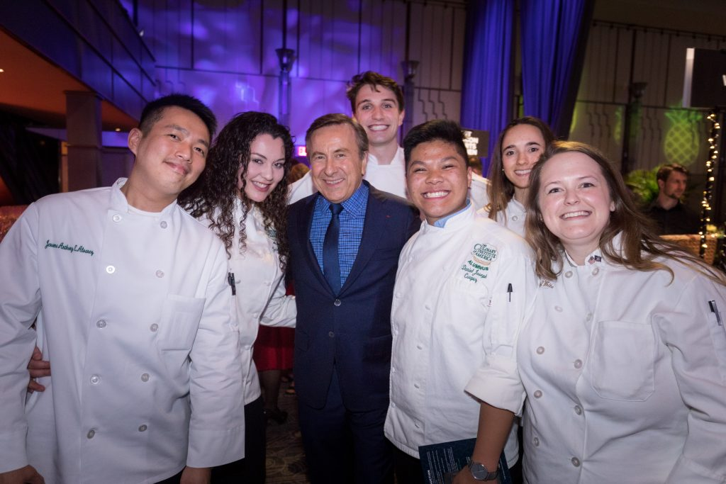 The Culinary Institute of America's 2019 Leadership Awards, 'Masters of Hospitality', held at The Ziegfeld Ballroom in New York City with Daniel Boulud.