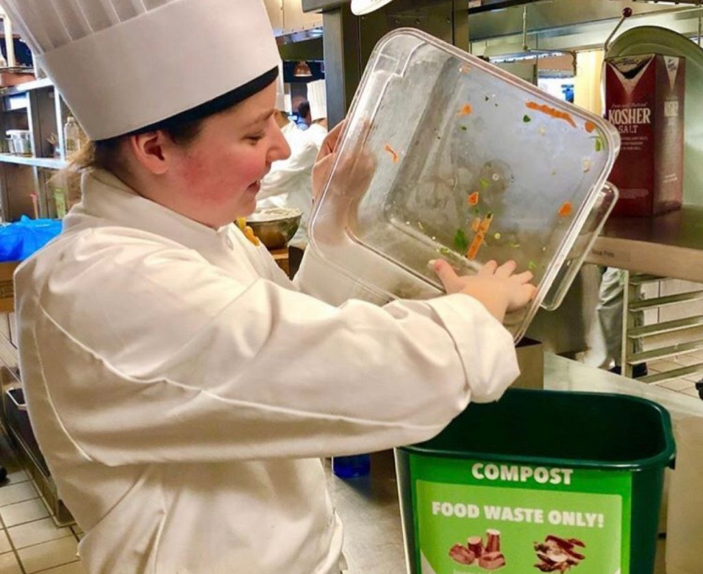 Thanks to the Menus of Change Kitchen, much of the food the institution used to donate or compost can now be repurposed safely on campus